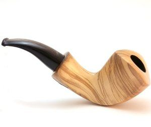 Free Hand Tobacco Pipe  Olive Wood  Model Tri Eagel  Hand Made: Smoking Pipe Gifts