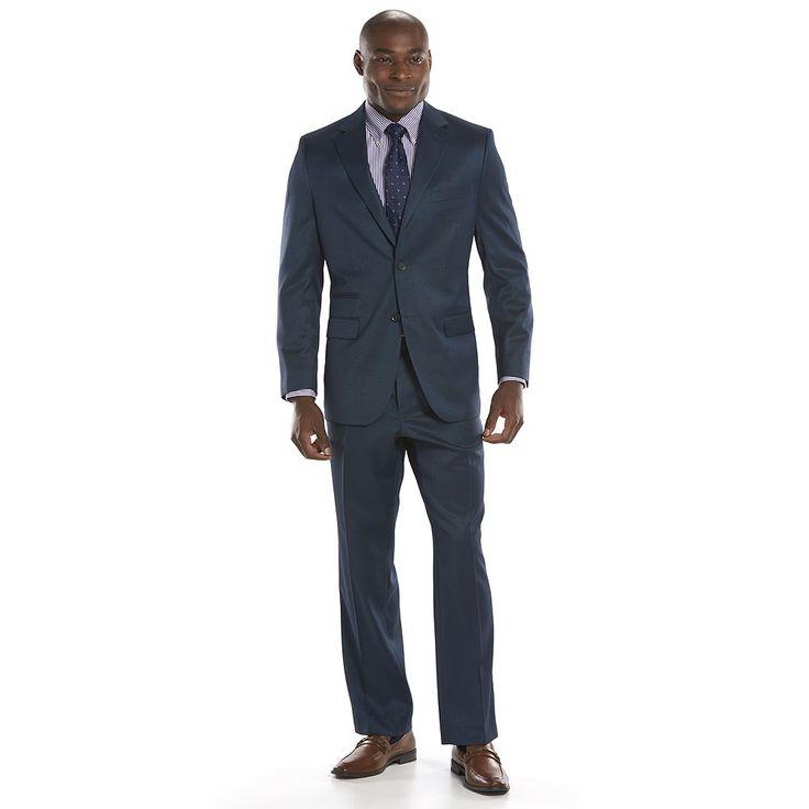 Men's Steve Harvey Classic-Fit Blue Suit Jacket, Size: 48 - regular