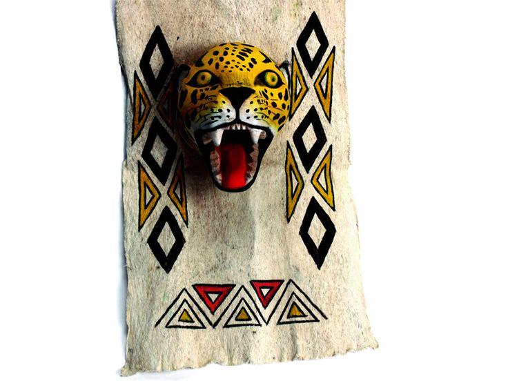 Máscara en Yanchama Corteza Arból - Catálogo de Productos - Artesanías de Colombia