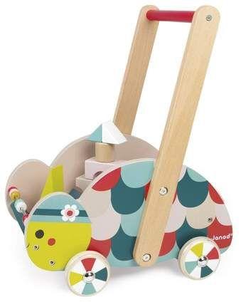 Janod Wood Turtle Cart #nursery #toddler #wood #play