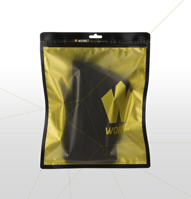 Details we like / Packaging / Yellow / Transparent / Lines / at WORKT Knee Sleeve Bag — The Dieline