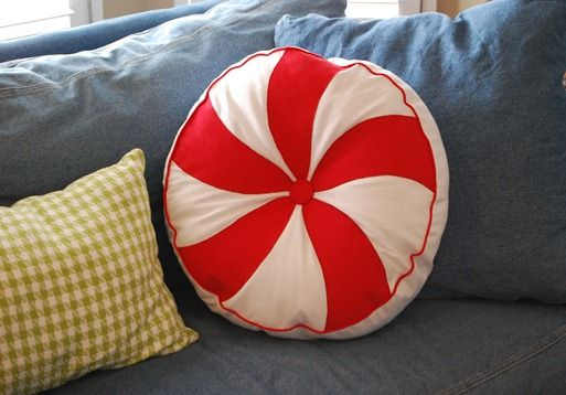 Peppermint pillows and mint pillow on pinterest for Peppermint swirl craft show