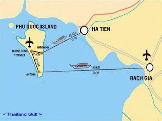 Ferry Ha Tien - Phu Quoc (70 min , 7€)