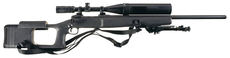John Plaster Designed Stock with Savage Model 10 Bolt Action Sniper Rifle with Scope and Sling