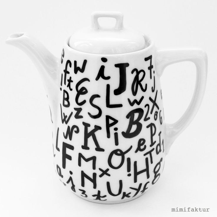 upcycling project by mimifaktur: new life for an old teapot #handlettering #upycling