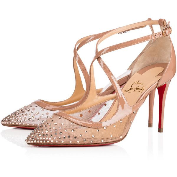 Twistissima Strass 85 Version Light Silk Strass - Women Shoes -... ($1,245) ❤ liked on Polyvore featuring shoes, pumps, pointed-toe pumps, christian louboutin pumps, evening shoes, special occasion shoes and christian louboutin