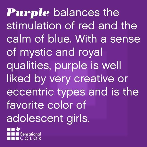 Purple is the Bomb - no matter the age!
