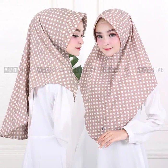 Hijab Minipad Middle Polka Hijab Khimar Minipad Antem Dengan Motif Polkadot Berukuran Middle Sedang Praktis Langsung Slu Hijab Fashion Hijab Beautiful Hijab