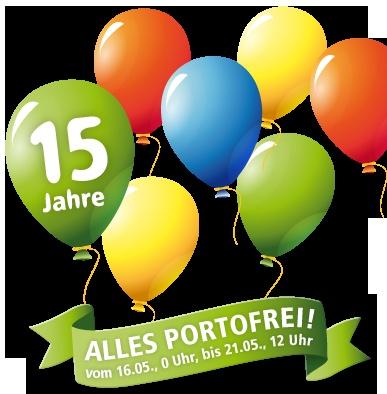 15 Jahre Weltbild.ch - Alles portofrei!