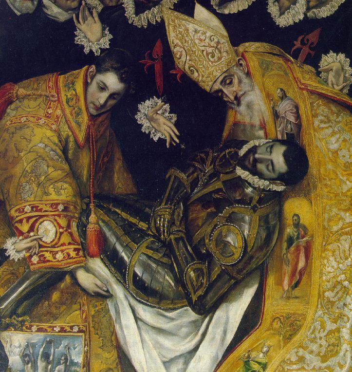 This is a detail from a magnificent painting we saw in Toledo. It's still in the place that El Greco painted it for. Really wonderful.