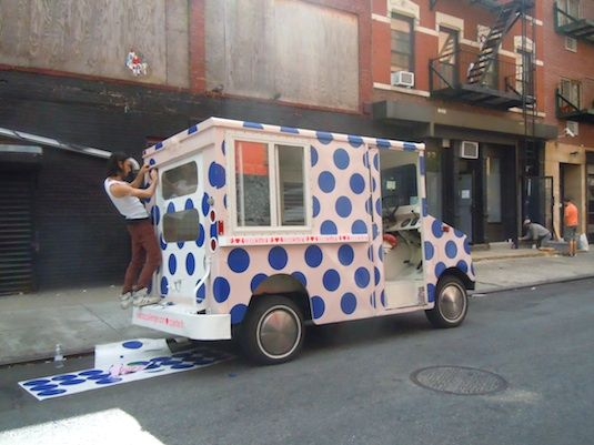Hearts Challenger, The Pink Ice Cream Truck Often Spotted At Art And  Fashion Events In New York And Los Angeles, Is Seen Here As A Collaborative  ...