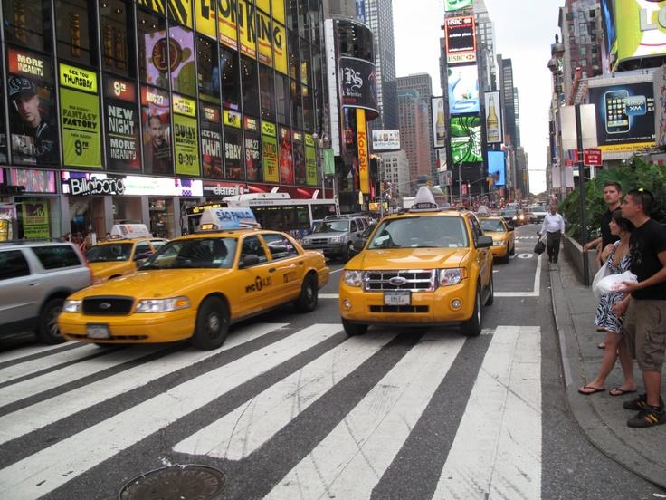Nowojorskie taksówki. New York City, taxi, USA. Fot. radio RMF FM