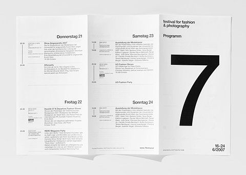 Grid-based layout with Helvetica