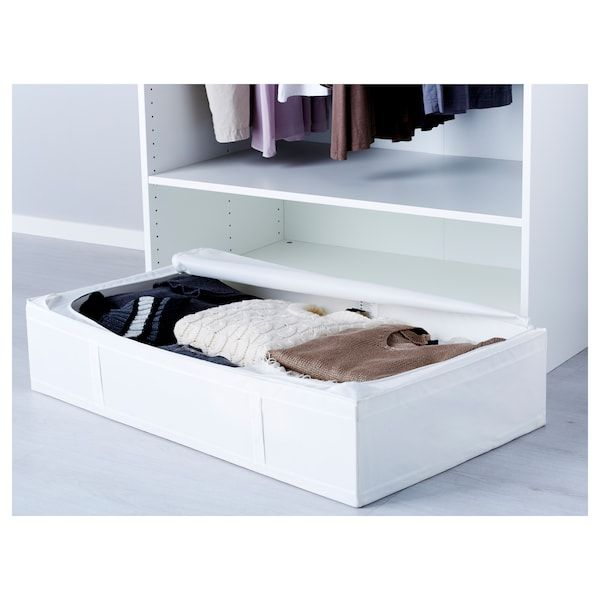 SKUBB white, Storage case, 93x55x19 cm