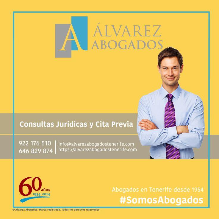 Consulte sus dudas realizando su consulta jurídica online o solicitando cita previa con nuestros abogados, el mejor asesoramiento jurídico en Tenerife. https://alvarezabogadostenerife.com/contacto/ #SomosAbogados #AbogadosTenerife #Abogados