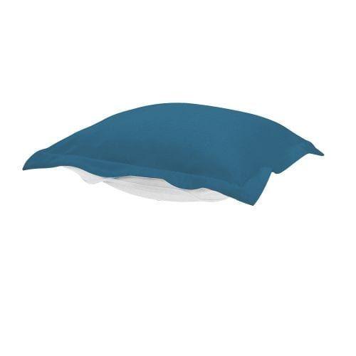 Howard Elliott Q310-298P Seascape 24 X 24 Puff Ottoman Cushion, Turquoise, Outdoor Cushion