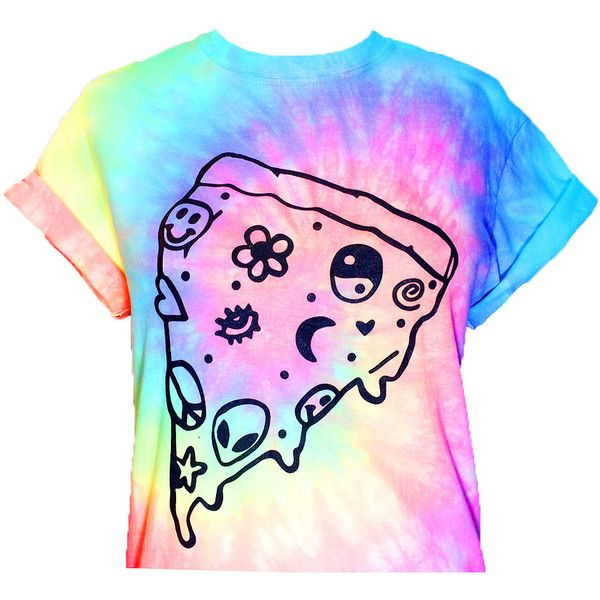 Pastel Pizza Crop Top- Pastel Tie Dye ($27) ❤ liked on Polyvore featuring tops, crop top, shirts, tiedie shirts, tie dyed shirts, tie-dye shirts, crop shirts and rainbow shirt