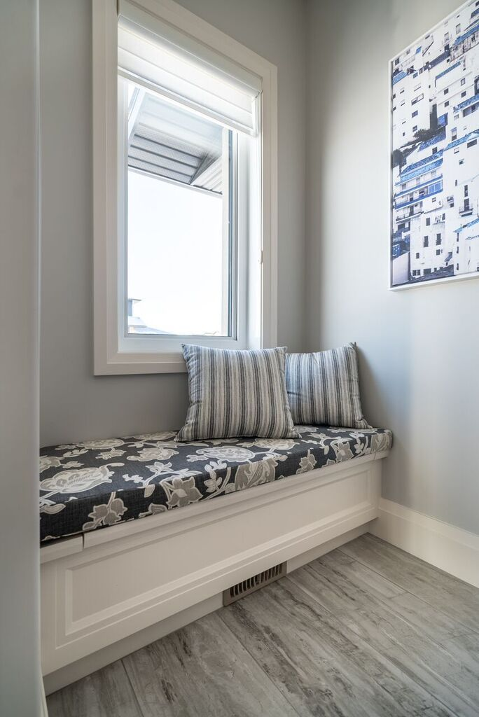 Close Up Of The Bench In Mudroom Love All Storage Areas