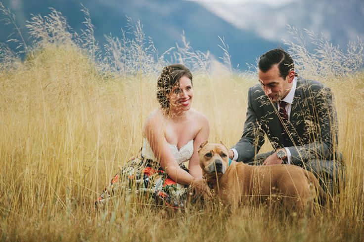 A rainy Lake Tahoe wedding with a rescued pit bull | Offbeat Bride
