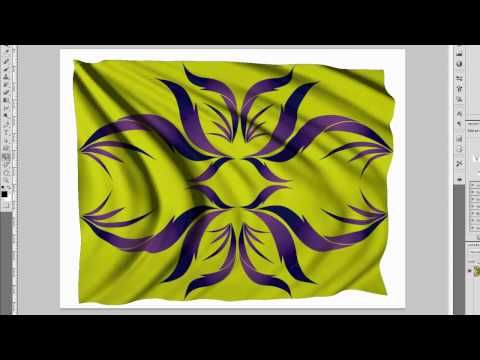 3D Flag in Photoshop CS5 Extended - with real 3D! - YouTube