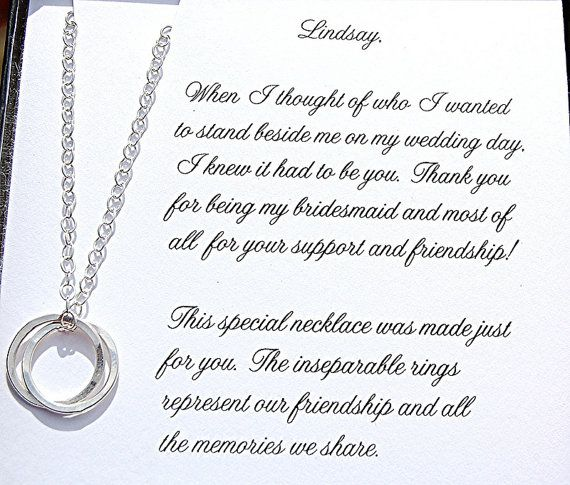 Bridesmaid and Maid of Honor Necklace with by SoBlessedDesigns, $36.00