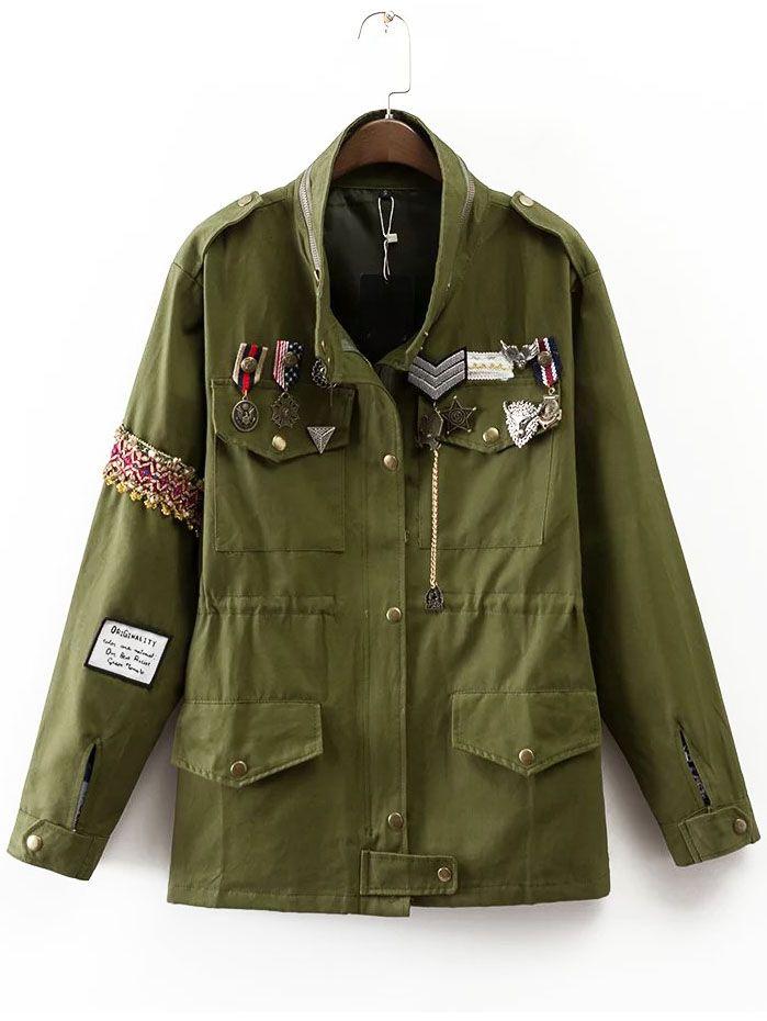 Cappotto Distintivo Verde Militare