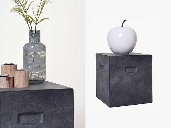 Hocker / Beistelltisch anthrazit | Wohnen mit Beton | Pinterest