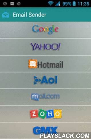 Email To Yahoo, Gmail, Hotmail  Android App - playslack.com ,  This Application is a free mail application. Using this application you can send email to Gmail, Yahoo or Hotmail with faster then ever.You just needs to fill some basic fields and your mail will get send with attachment faster then any other application.Is this secure? Don't worry about security it's use SSL(Secure Socket Layer). So you should get secure connection.Our application is available and optimized for both tablets and…
