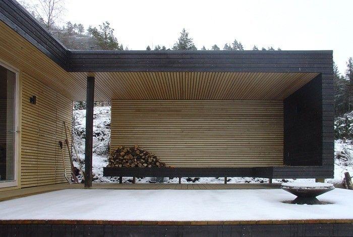 Lag en avskjermet uteplass. Ski Lodge by Tommie Wilhelmsen