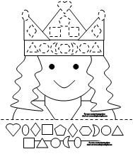 good shape matching activity that I can have the kids do during princess and the pea theme