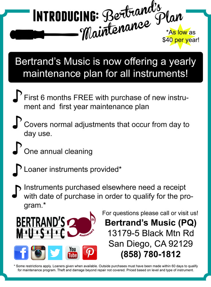 33 best music gift ideas images on pinterest music gifts music ed bertrands music is now offering a new maintenance plan for all new or just repaired instruments thecheapjerseys Image collections