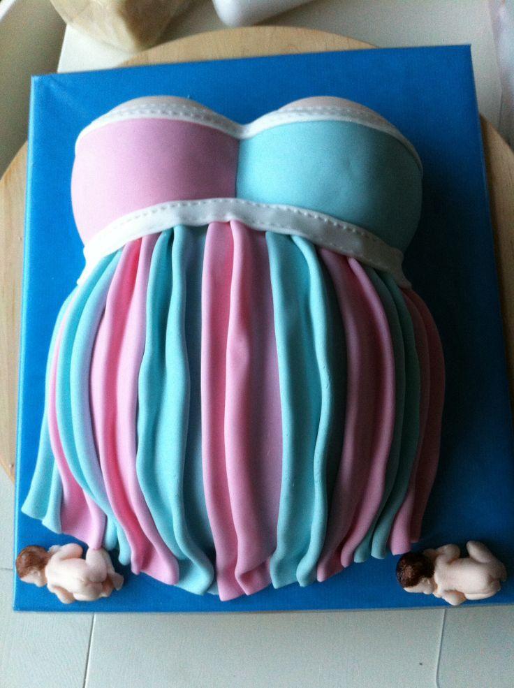 zwangere buiken taart / pregnancy cake