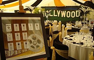 plan de table hollywood