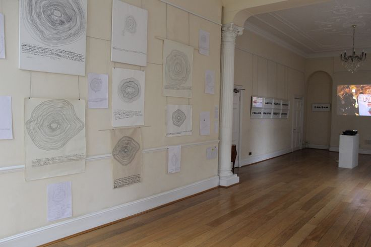Art project 'Echo for Rosia Montana' shown at the Romanian Cultural Centre in London on the Rosia Montana Day (6.02.2015)  -- the concept for this participatory art piece was created by Emanuela Marcu. The body of the work was created by global protesters. http://www.romanianculturalcentre.org.uk/post.php?id=8732   https://www.facebook.com/media/set/?set=a.781429991932864.1073741867.441890259220174&type=3