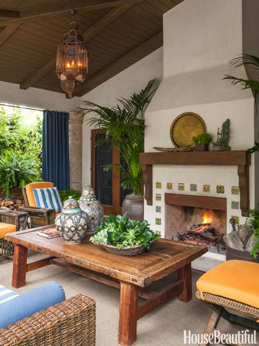 Unique Fireplaces - One of a Kind Fireplaces - House Beautiful