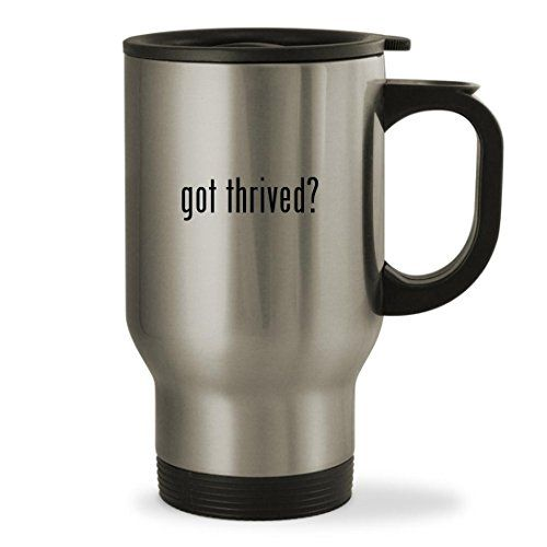 Thrive Diet Patches - got thrived? - 14oz Sturdy Stainless Steel Travel Mug, Silver >>> Read more reviews of the product by visiting the link on the image. (This is an affiliate link) #ThriveDietPatches