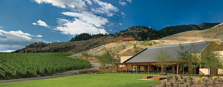 "Hester Creek winery and Terrafina Restaurant, located in the South Okanagan's ""Golden Mile Bench"", just south of Oliver, BC."