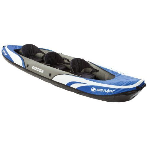 Take your family on their next water adventure in the Sevylor Big Basin 3-Person Kayak. The heavy-duty PVC construction and rugged tarpaulin bottom makes it ready for anything from a calm lake to easy whitewater. Just in case you do hit a snag while you're out there, the multiple air...
