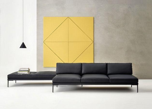 Canapé Steeve en cuir d'Arper chez Made in design
