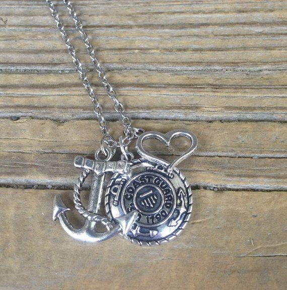 U.S.+Coast+Guard+necklace+/+Coastie+Wife+/+Coastie+by+CADETcouture