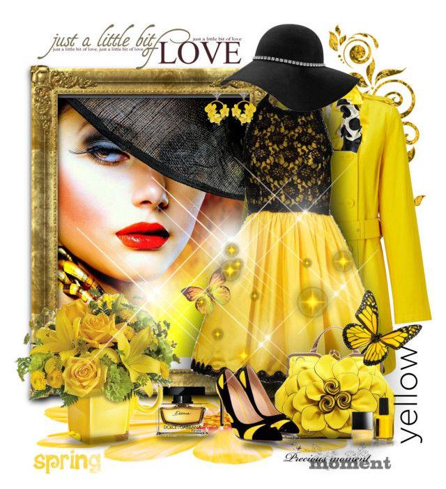 """Spring"" by gianna-pellegrini ❤ liked on Polyvore featuring Lauren Ralph Lauren, Black, Bill Blass, VANINA, Butter London and Dolce&Gabbana"