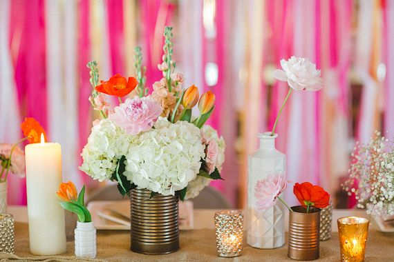 Tin can floral vases | photos by Apryl Ann | 100 Layer Cake