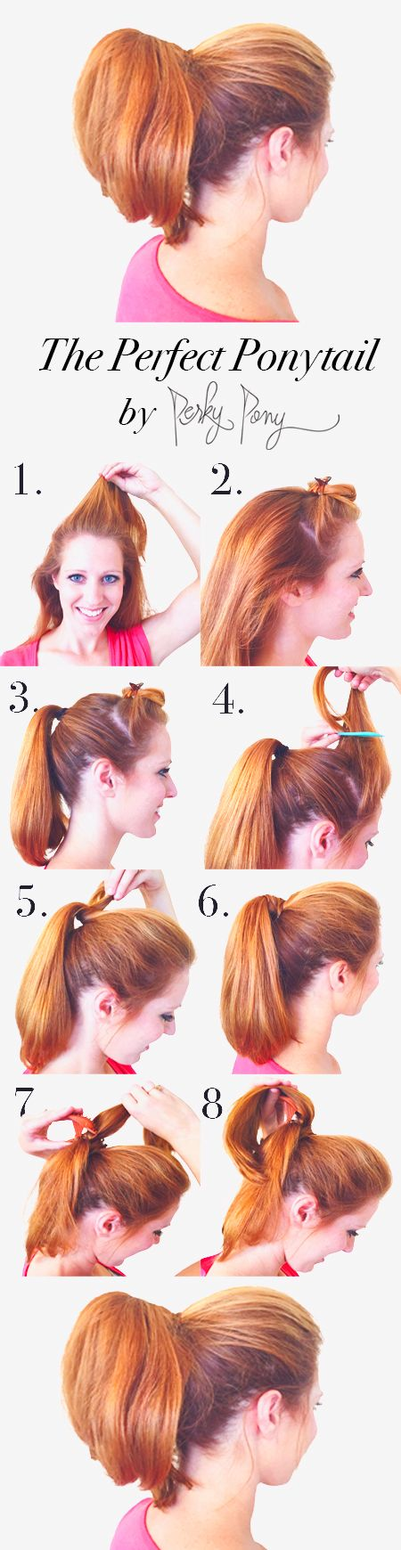 Everyone wants to perfect the ideal ponytail, with a bump in the front and volume in the pony. Finally, a way to get the perfect ponytail without all the hassle! Can I get a hip-hip-hooray?!? #perkypony #cuteponytail #perfectponytail #redhead #volumizedhair #ponytails