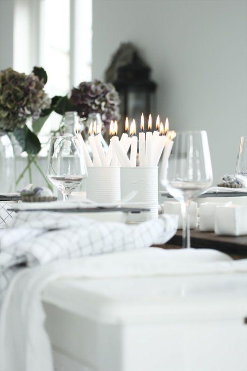 Kersttafel in het wit   White christmas