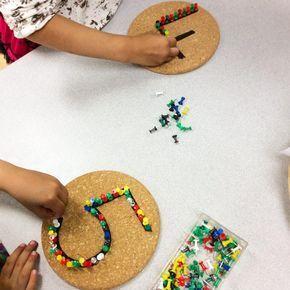 Learn the numbers. Punching Montessori #montessori #motri