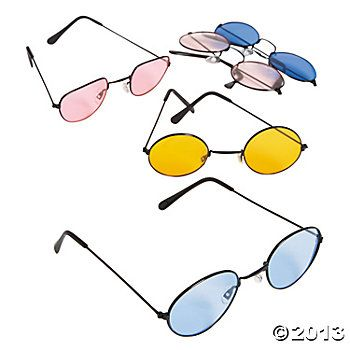 Hippie Party: Colored Lens Sunglasses