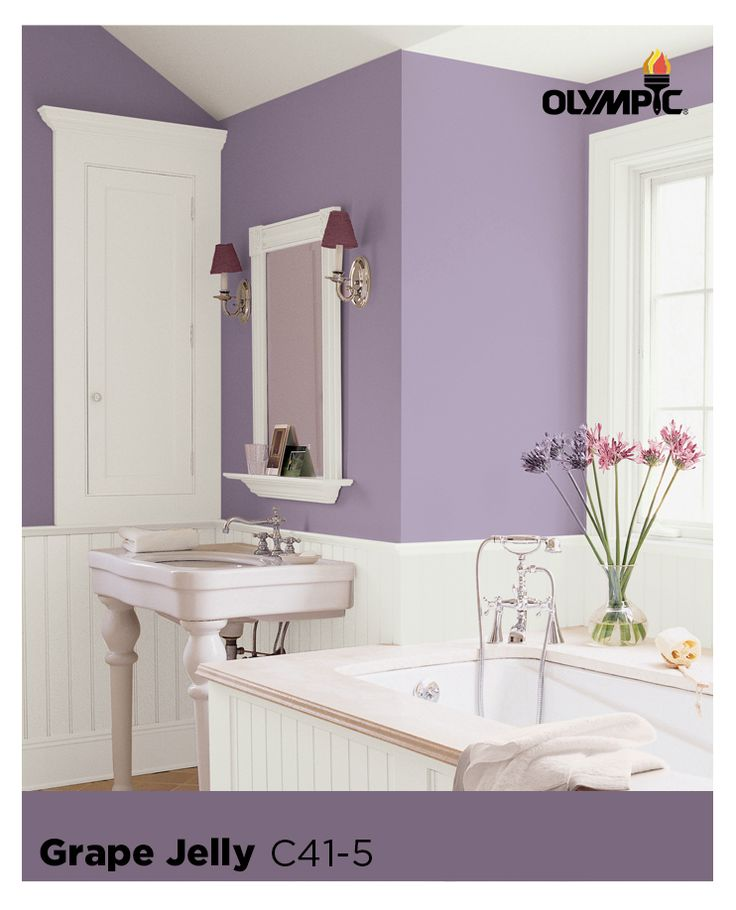 Purple Paint Color Schemes for Bathrooms : Purple is gorgeous & sophisticated when paired with more neutral organic colors, such as creams & beiges.