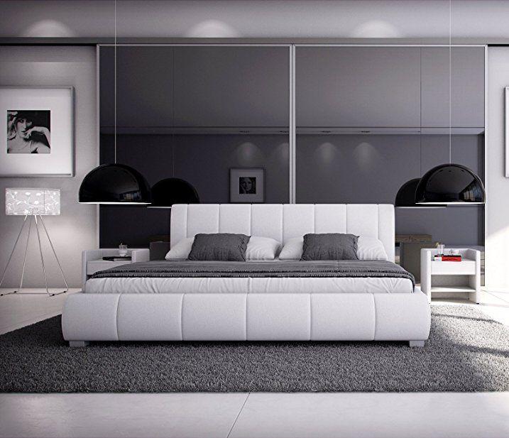 SAM® Polsterbett 180x200 cm Leon, weiß, Bett mit