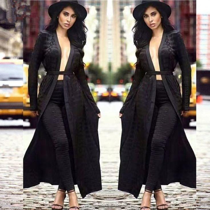 Babatique 2017 B*lmain Runway coat pant suit  Geometric Jacquard Plaid Bandage Long Cardigan jacket Nude Green Pants Leggings
