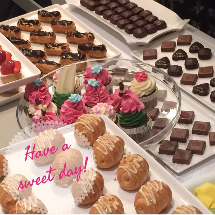 have a sweet day!  sweets, cupcakes, chocolate and cookies.